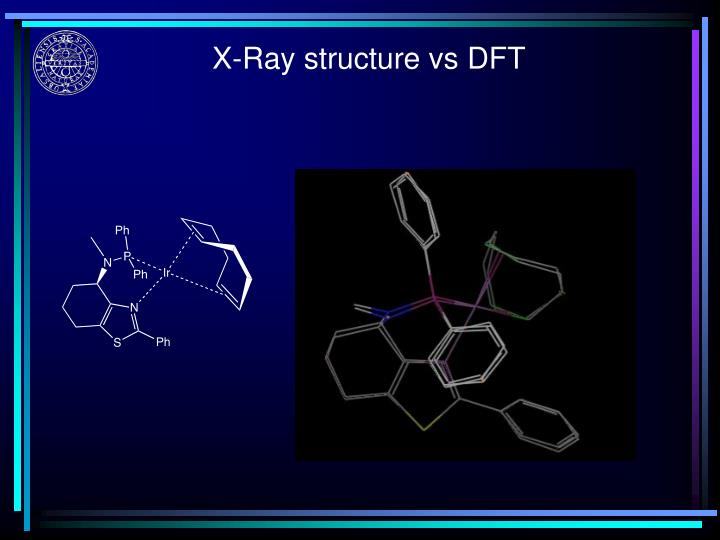 X-Ray structure vs DFT