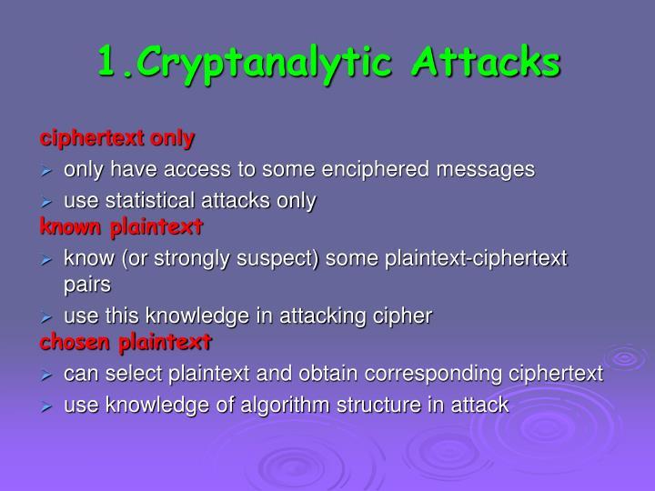 1.Cryptanalytic Attacks