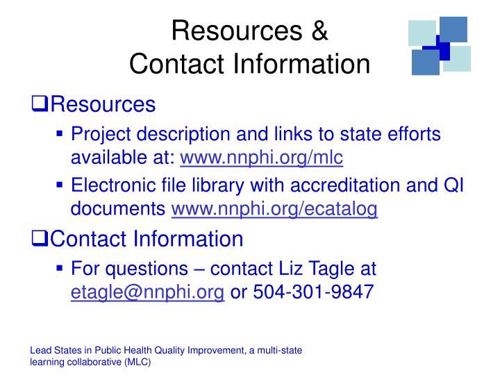 Resources &