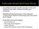 colorado smart grid case study