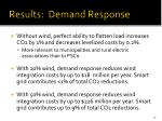 results demand response