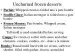 unchurned frozen desserts