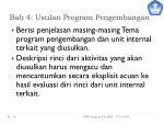 bab 4 usulan program pengembangan
