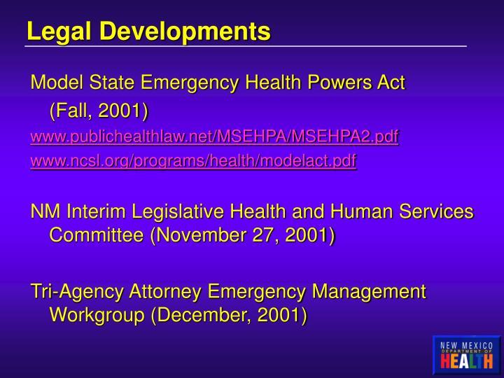 Legal Developments