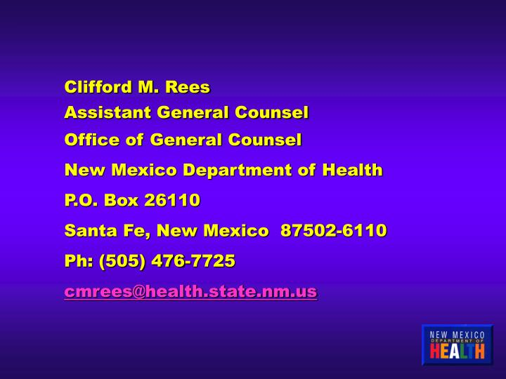 Clifford M. Rees