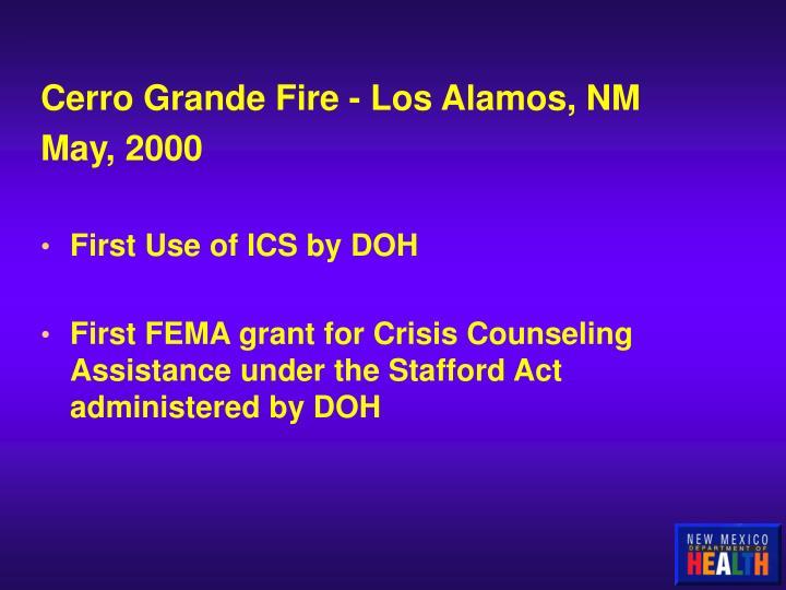 Cerro Grande Fire - Los Alamos, NM