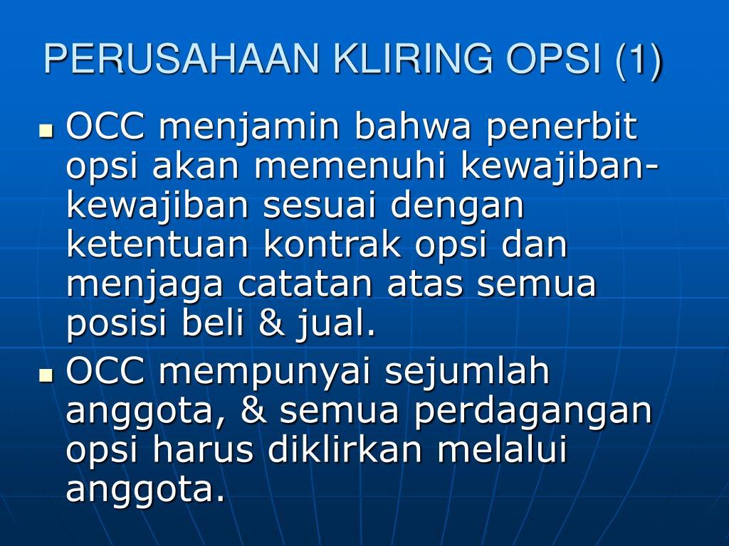 Kontrak Opsi Saham - Kliring