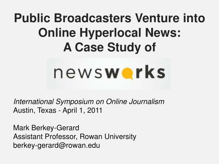 public broadcasters venture into online hyperlocal news a case study of