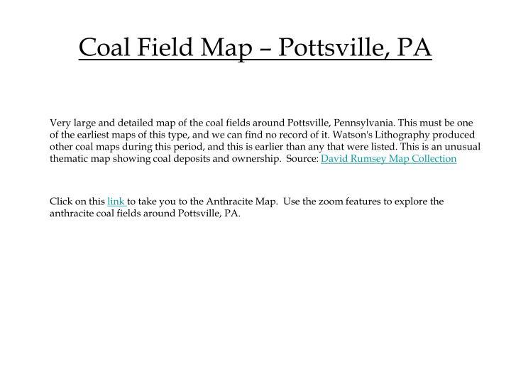 Coal Field Map – Pottsville, PA