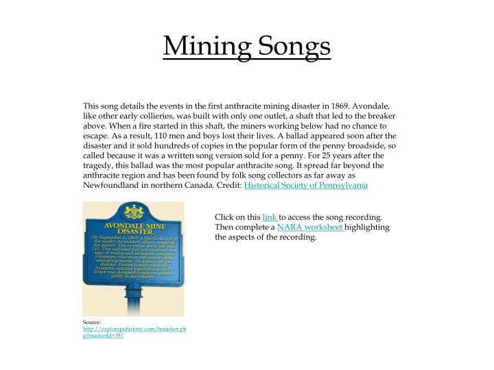 Mining Songs