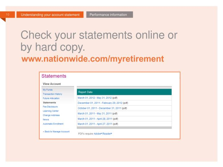 Check your statements