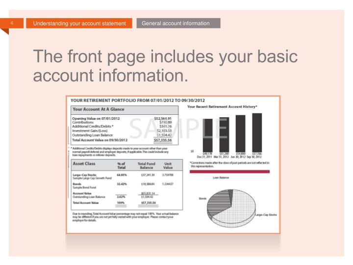 General account information