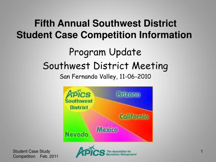Program update southwest district meeting san fernando valley 11 06 2010
