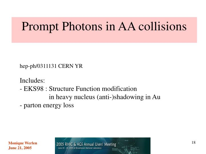 Prompt Photons in AA collisions