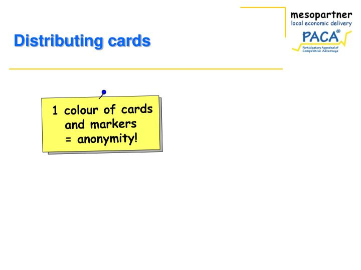 1 colour of cards
