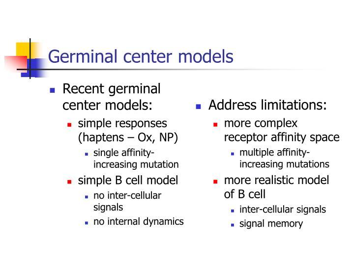 Germinal center models