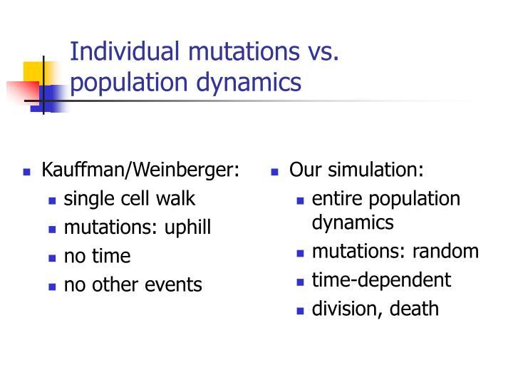 Individual mutations vs.