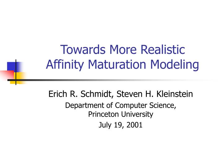 Towards more realistic affinity maturation modeling