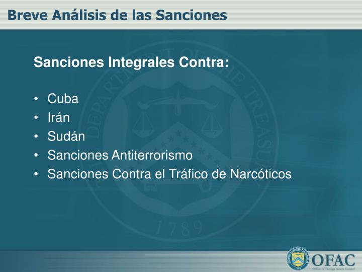 Sanciones Integrales Contra: