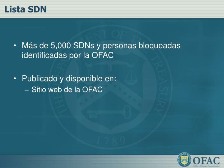 Lista SDN
