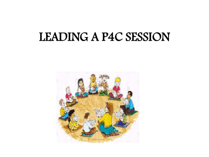 leading a p4c session n.