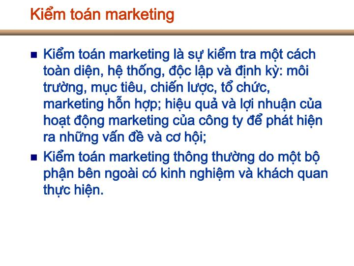 Kiểm toán marketing