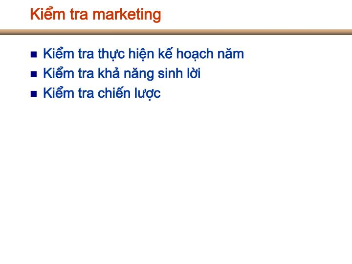 Kiểm tra marketing