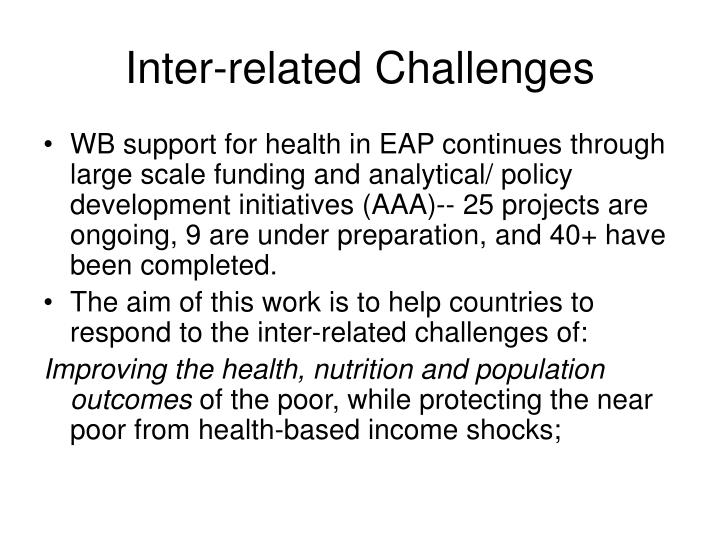 Inter-related Challenges