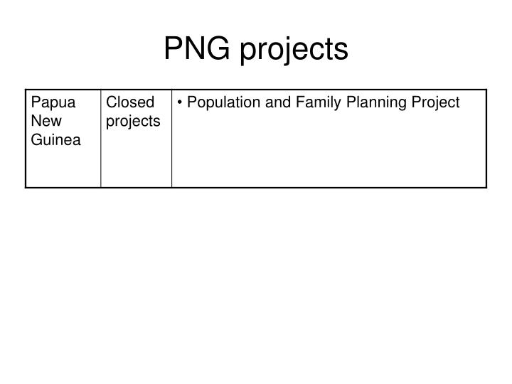 PNG projects