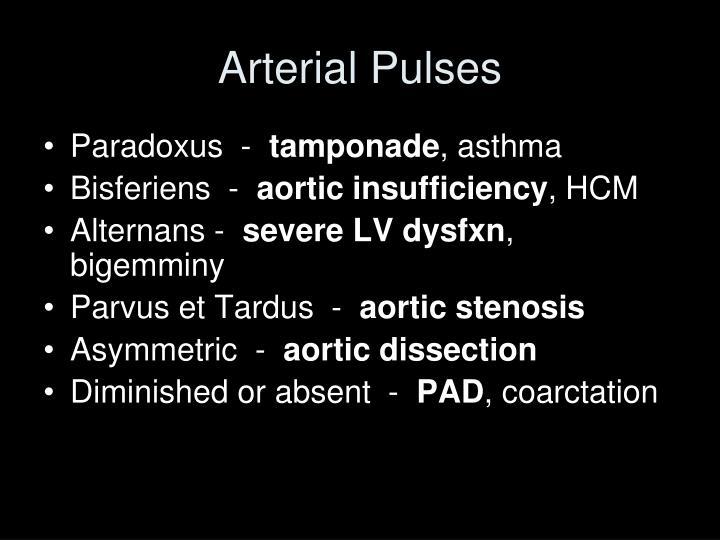 Arterial pulses