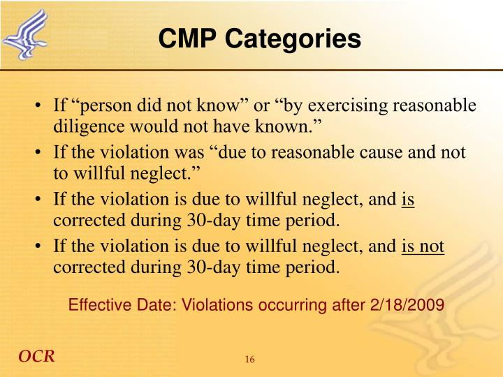 CMP Categories