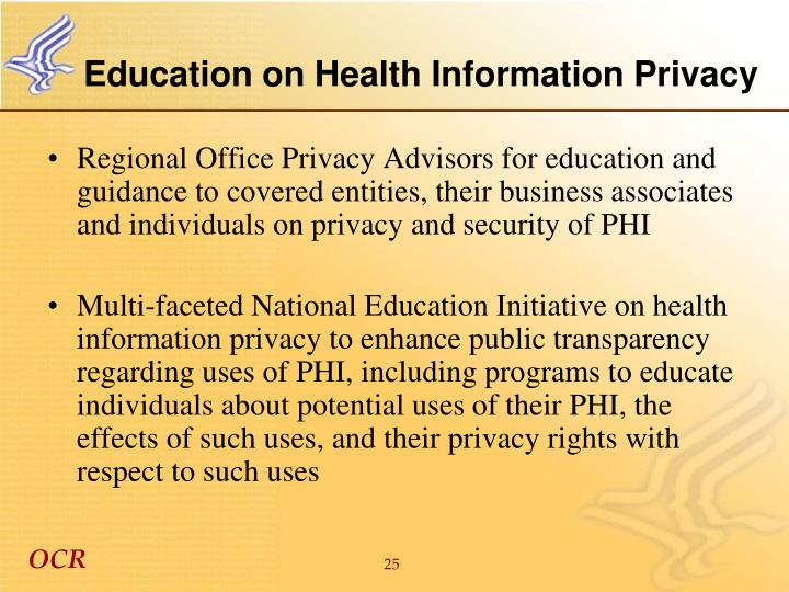 Education on Health Information Privacy