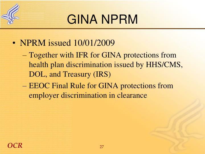 GINA NPRM