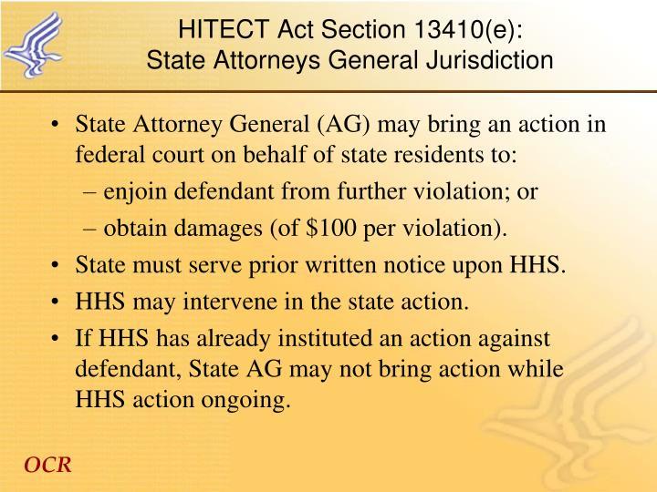 HITECT Act Section 13410(e):