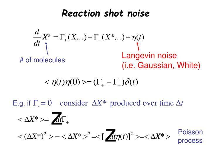 Reaction shot noise