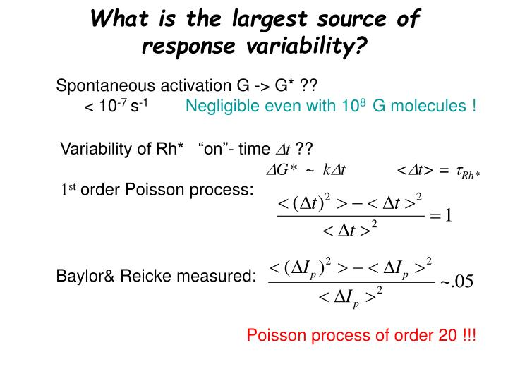 What is the largest source of response variability?