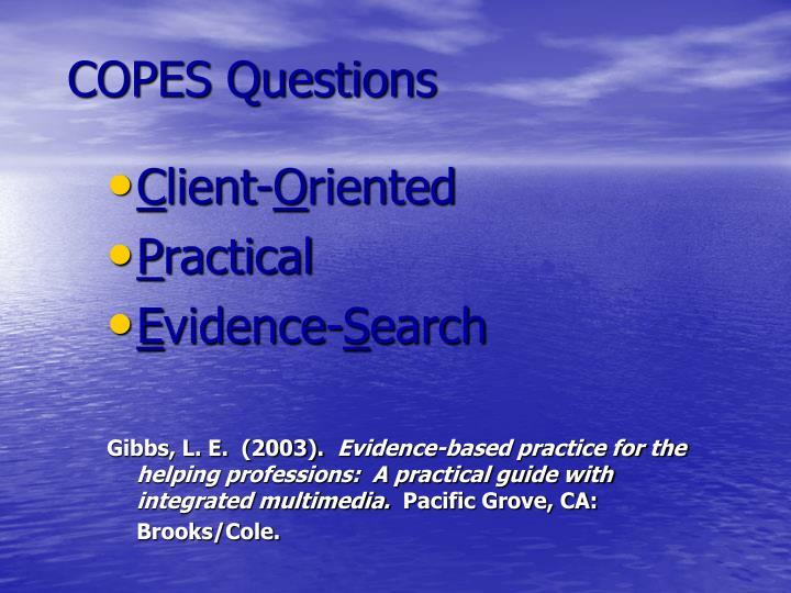COPES Questions