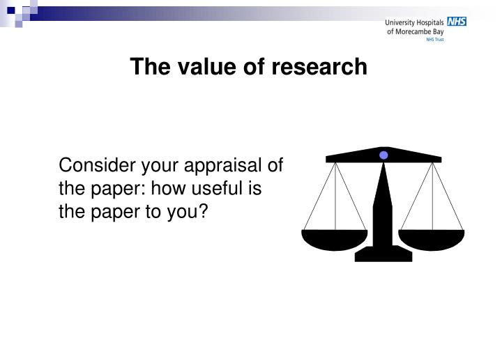 critical appraisal qualitative research paper Evaluation of qualitative research • the work of a number of writers is used in this paper to examine the features critical appraisal, qualitative research.