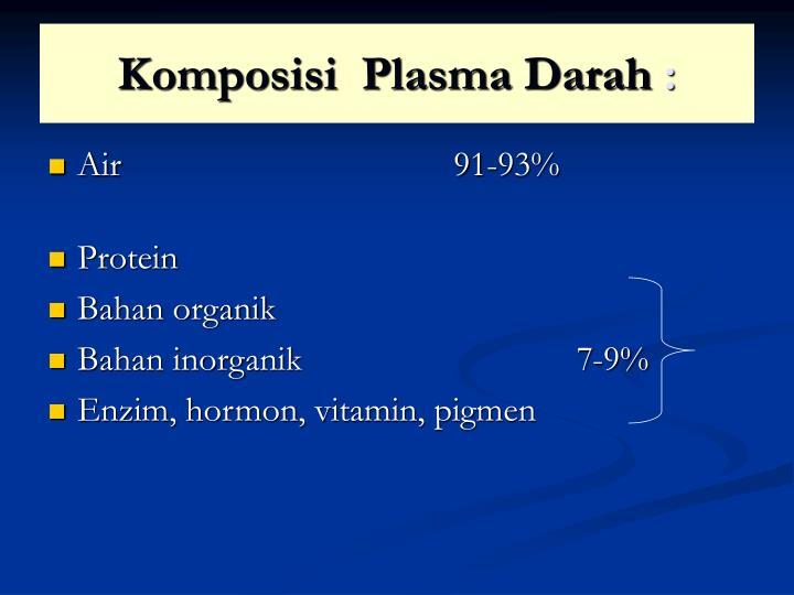 Komposisi  Plasma Darah