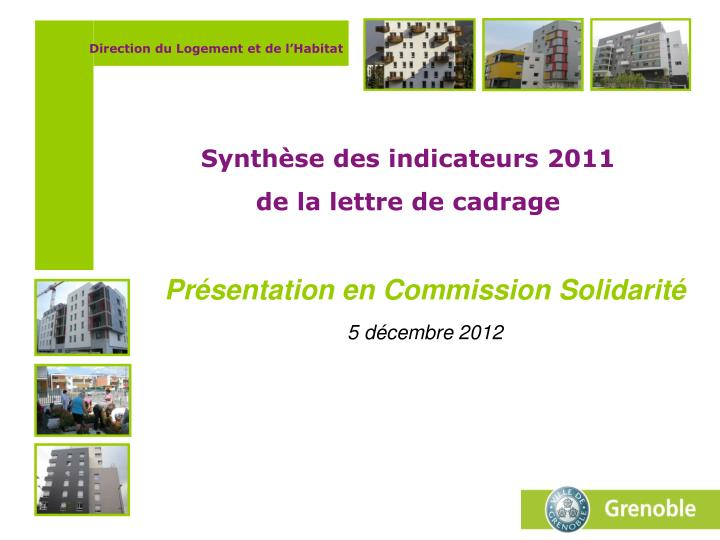 Pr sentation en commission solidarit 5 d cembre 2012