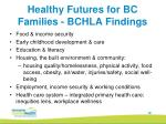healthy futures for bc families bchla findings