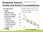 protective factors family and school connectedness