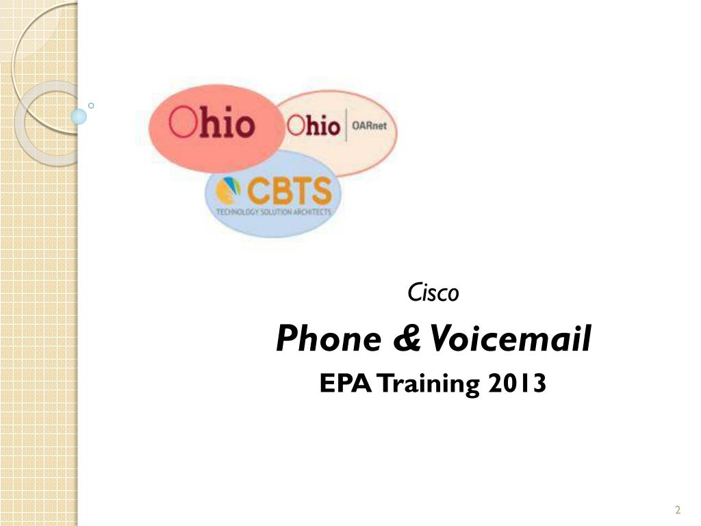 PPT - Cisco Phone & Voicemail EPA Training 2013 PowerPoint
