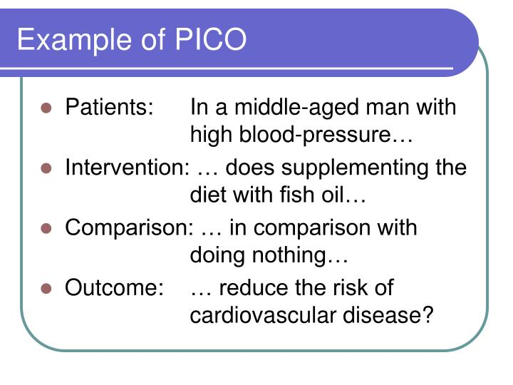 Example of PICO