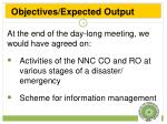 objectives expected output1