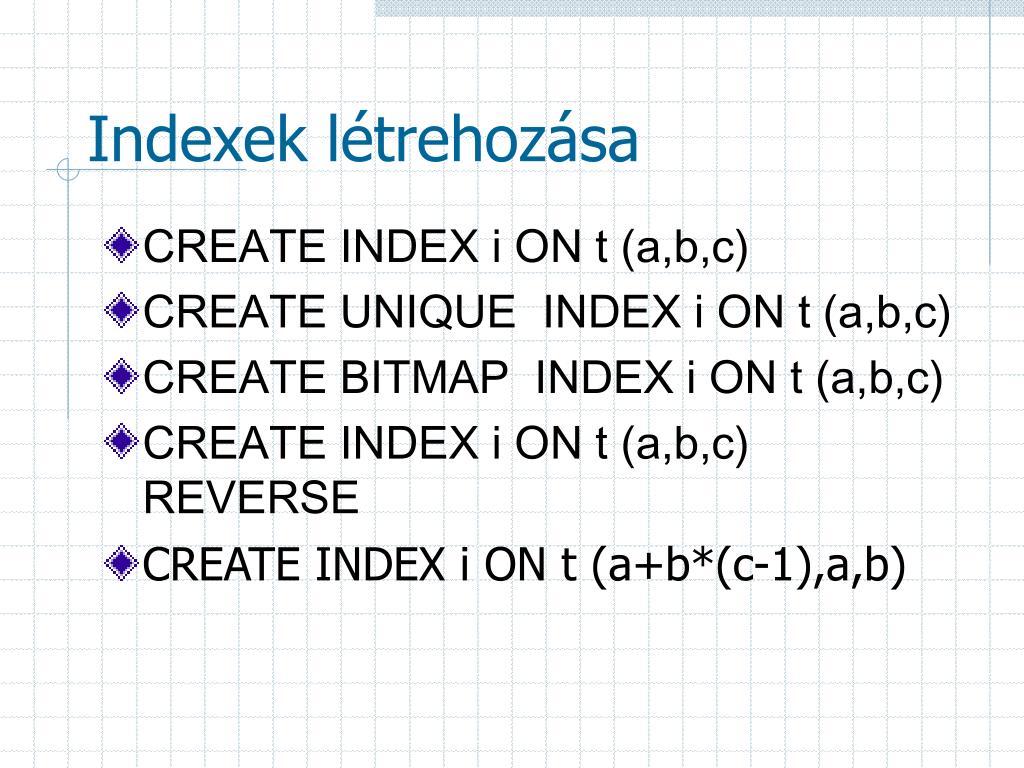 az indexek opcióinak előnyei