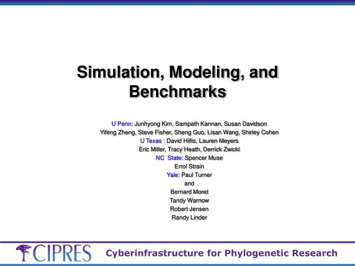 simulation modeling and benchmarks