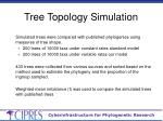 tree topology simulation1