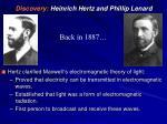 discovery heinrich hertz and phillip lenard