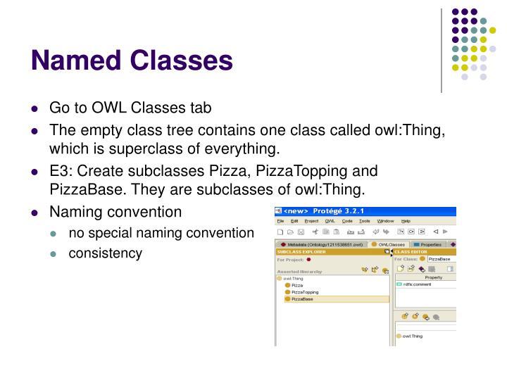 Named Classes
